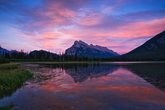 Vermillion Lakes and Mt Rundell