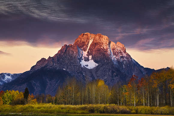 First Light, Mt Moran